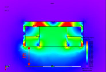 Картина магнитного поля подвесного железоотделителя 2