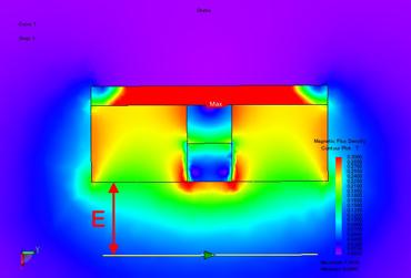 Картина магнитного поля подвесного железоотделителя 3