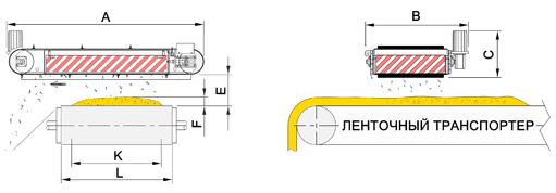 Подвесной железоотделитель саморазгружающийся схема установки